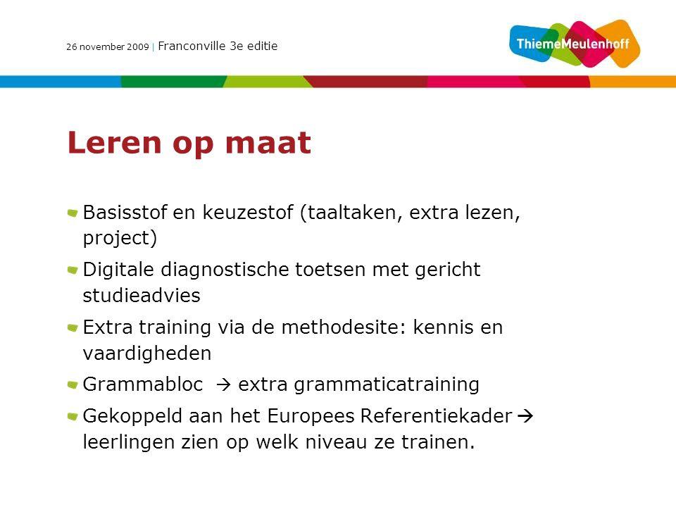 Leren op maat Basisstof en keuzestof (taaltaken, extra lezen, project)