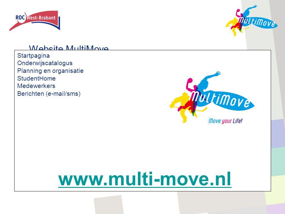 www.multi-move.nl Website MultiMove Startpagina Onderwijscatalogus