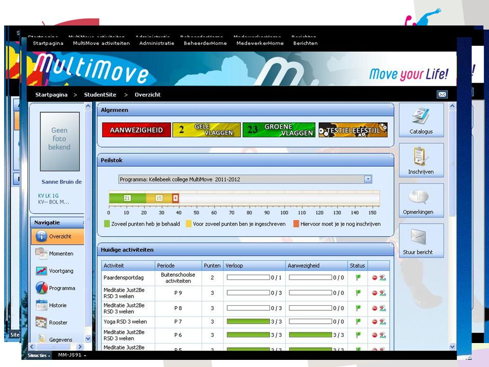 Screenshots MultiMove website