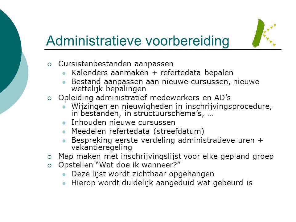 Administratieve voorbereiding