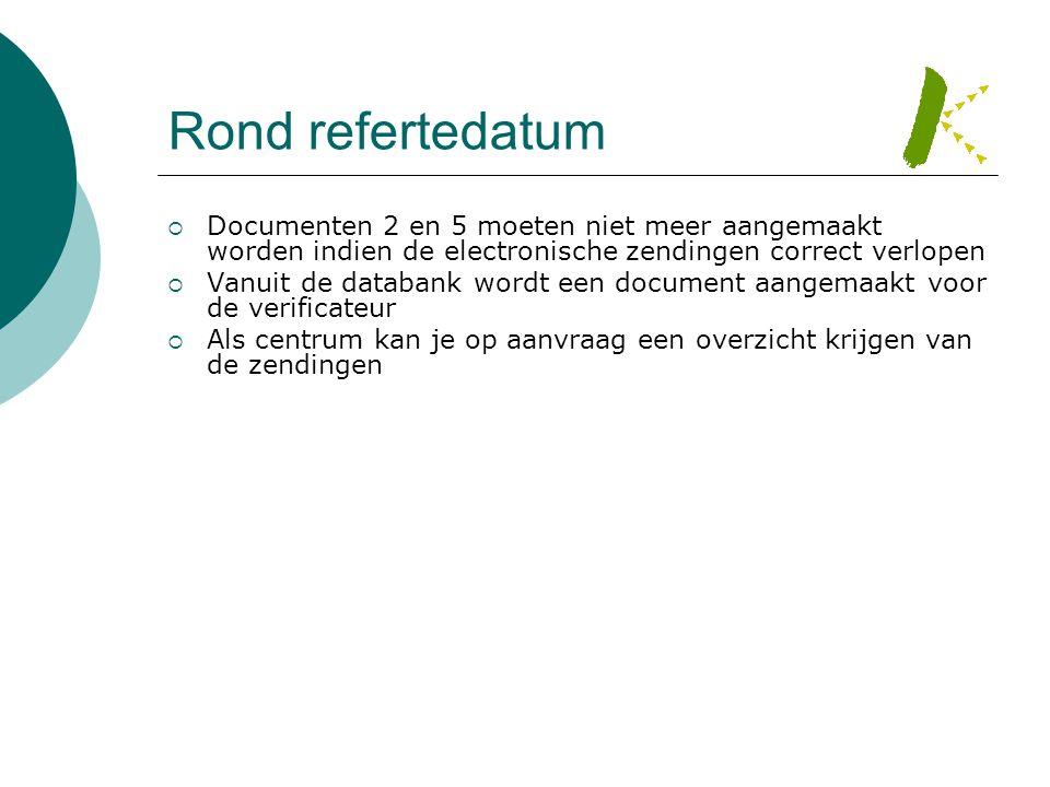 Rond refertedatum Documenten 2 en 5 moeten niet meer aangemaakt worden indien de electronische zendingen correct verlopen.