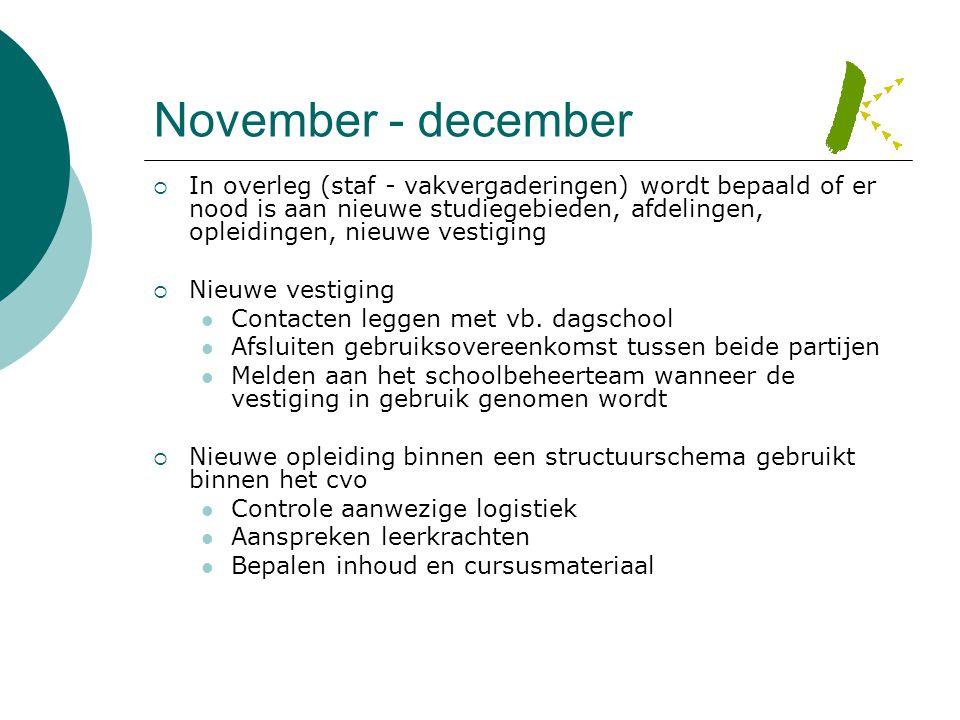 November - december