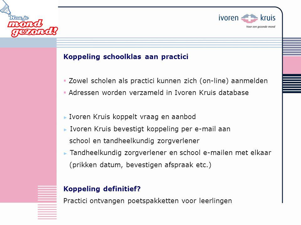Koppeling schoolklas aan practici