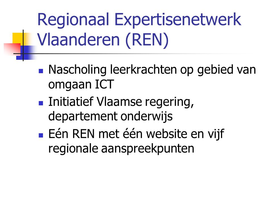 Regionaal Expertisenetwerk Vlaanderen (REN)