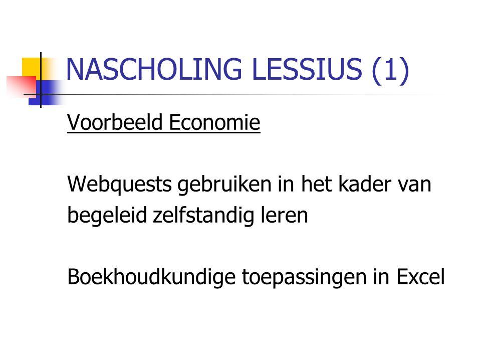 NASCHOLING LESSIUS (1) Voorbeeld Economie