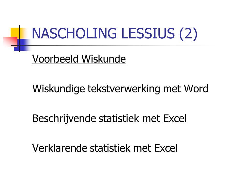 NASCHOLING LESSIUS (2) Voorbeeld Wiskunde