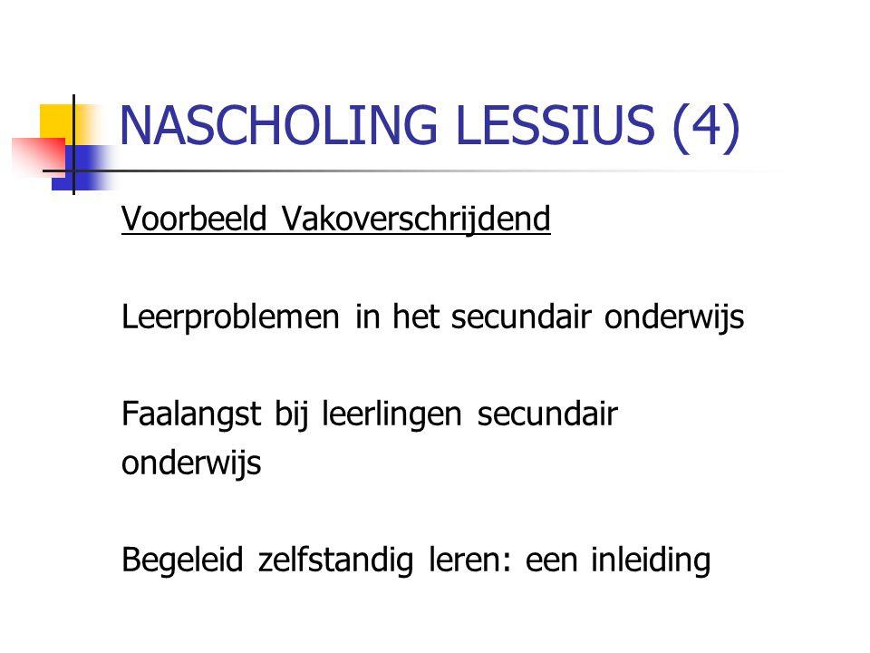 NASCHOLING LESSIUS (4) Voorbeeld Vakoverschrijdend