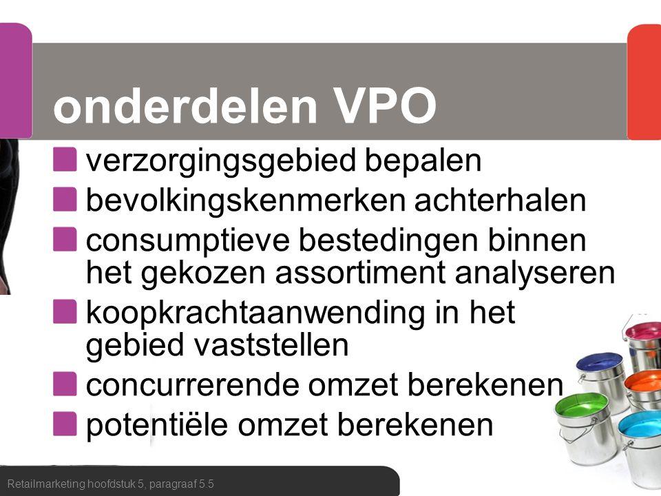 onderdelen VPO verzorgingsgebied bepalen