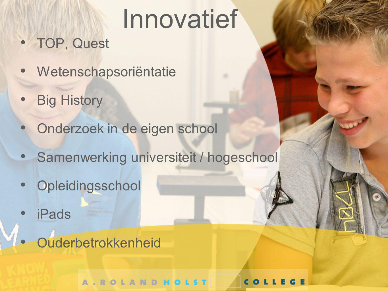 Innovatief TOP, Quest Wetenschapsoriëntatie Big History