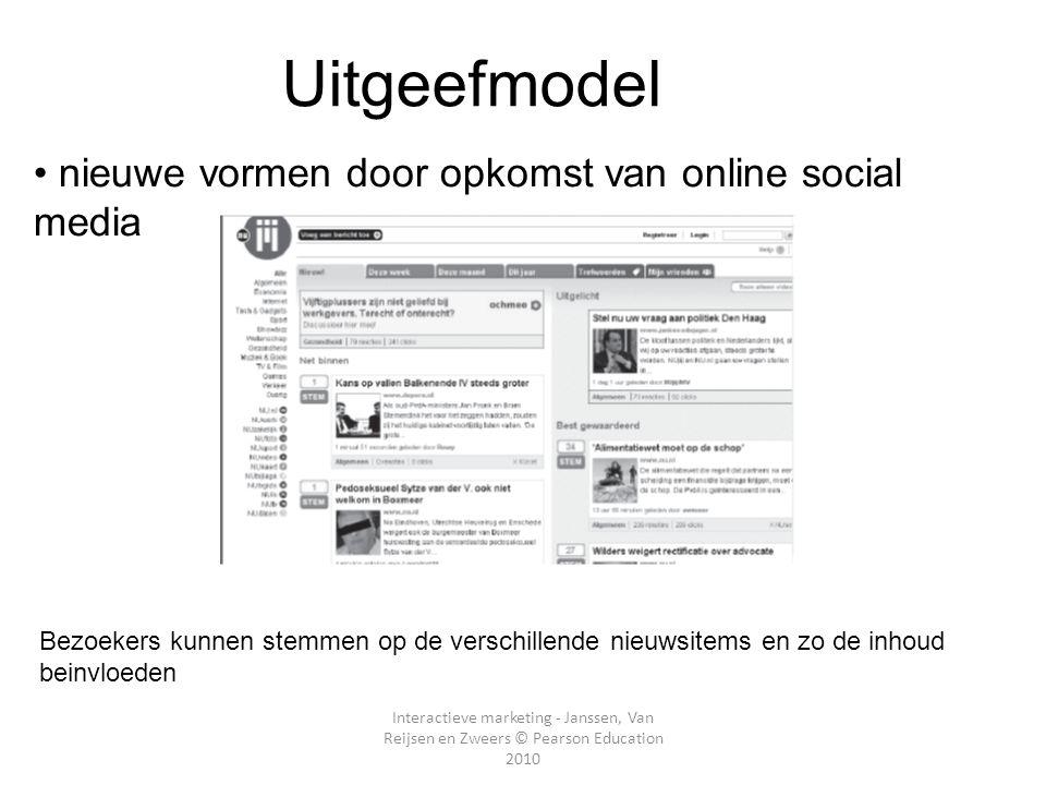 E-Uitgeefmodel nieuwe vormen door opkomst van online social media