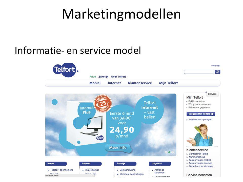 Marketingmodellen Informatie- en service model