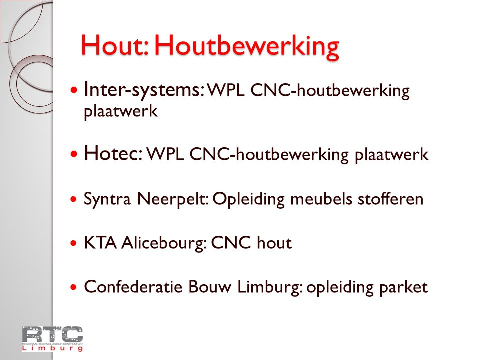 Hout: Houtbewerking Inter-systems: WPL CNC-houtbewerking plaatwerk