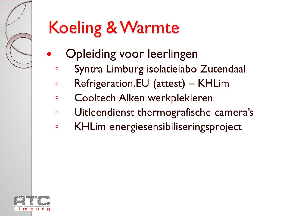 Koeling & Warmte Opleiding voor leerlingen