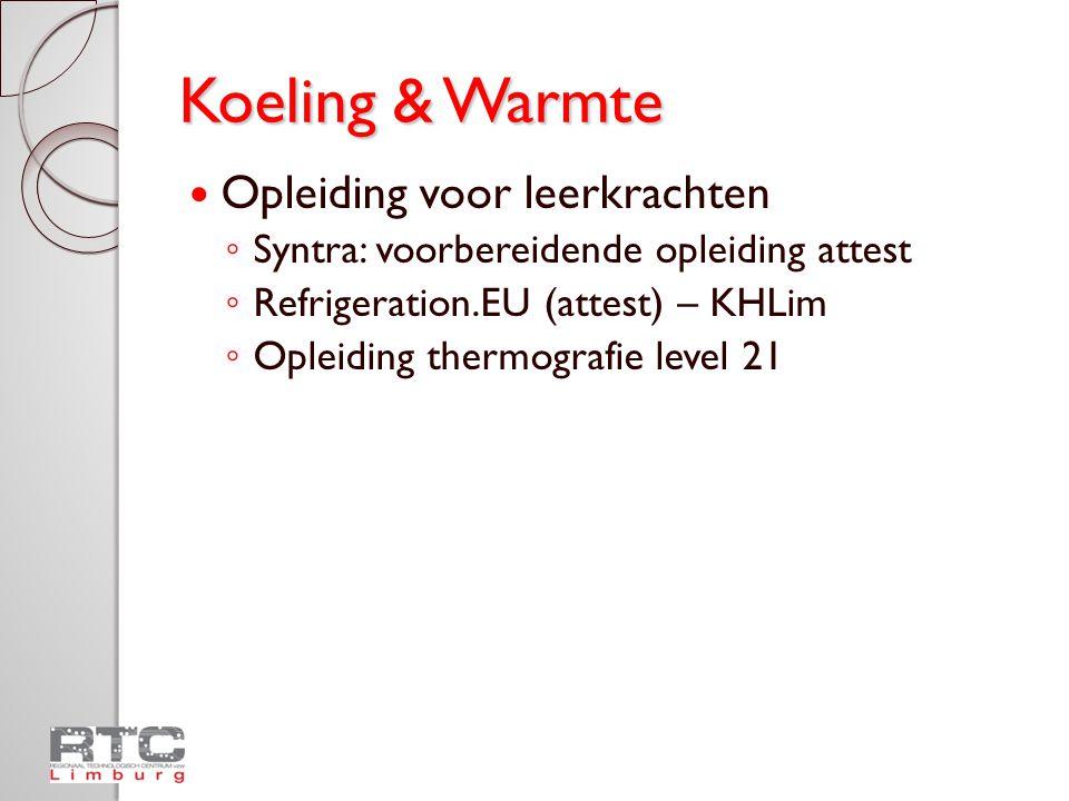 Koeling & Warmte Opleiding voor leerkrachten