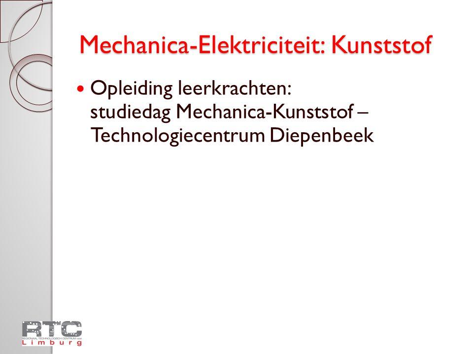 Mechanica-Elektriciteit: Kunststof