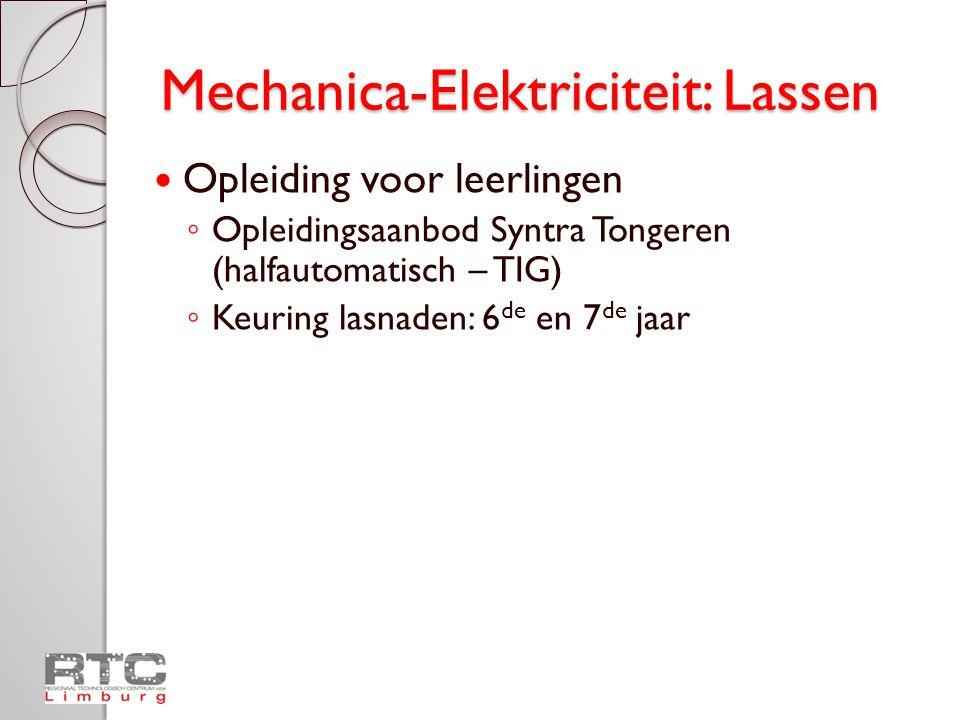 Mechanica-Elektriciteit: Lassen