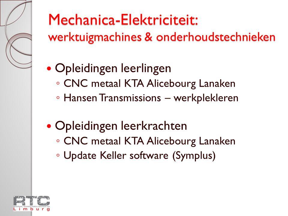 Mechanica-Elektriciteit: werktuigmachines & onderhoudstechnieken