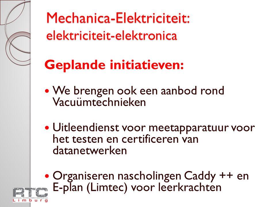 Mechanica-Elektriciteit: elektriciteit-elektronica