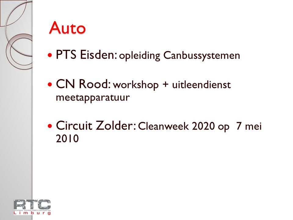 Auto PTS Eisden: opleiding Canbussystemen