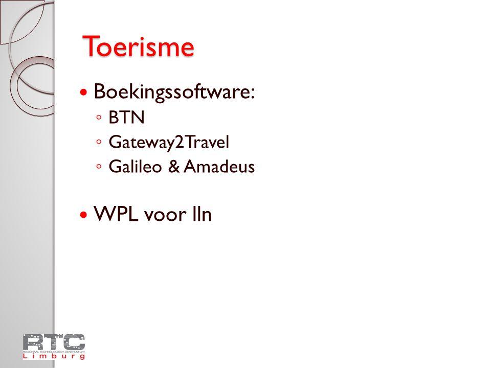 Toerisme Boekingssoftware: WPL voor lln BTN Gateway2Travel