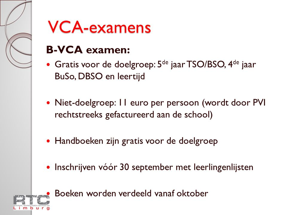 VCA-examens B-VCA examen: