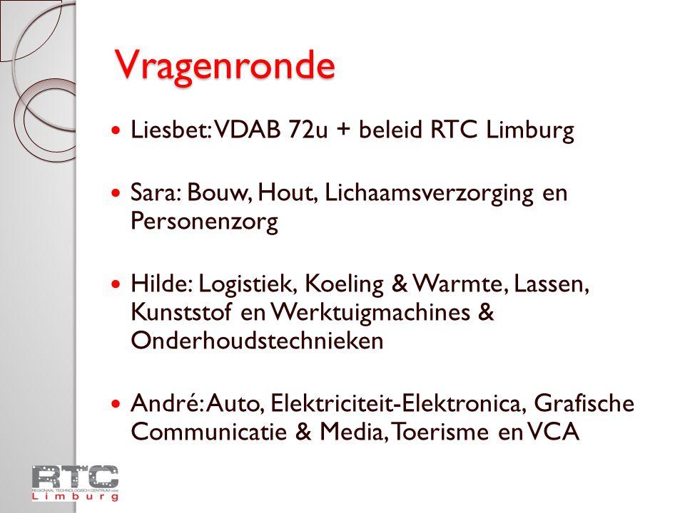 Vragenronde Liesbet: VDAB 72u + beleid RTC Limburg