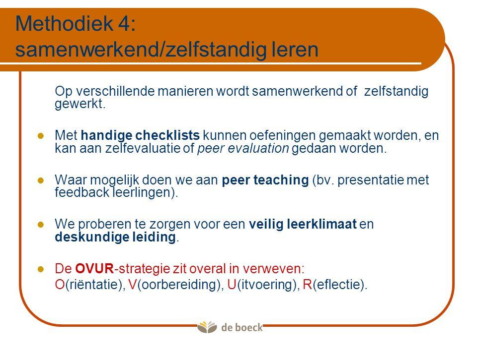 Methodiek 4: samenwerkend/zelfstandig leren