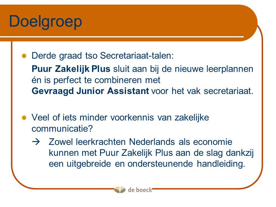 Doelgroep Derde graad tso Secretariaat-talen: