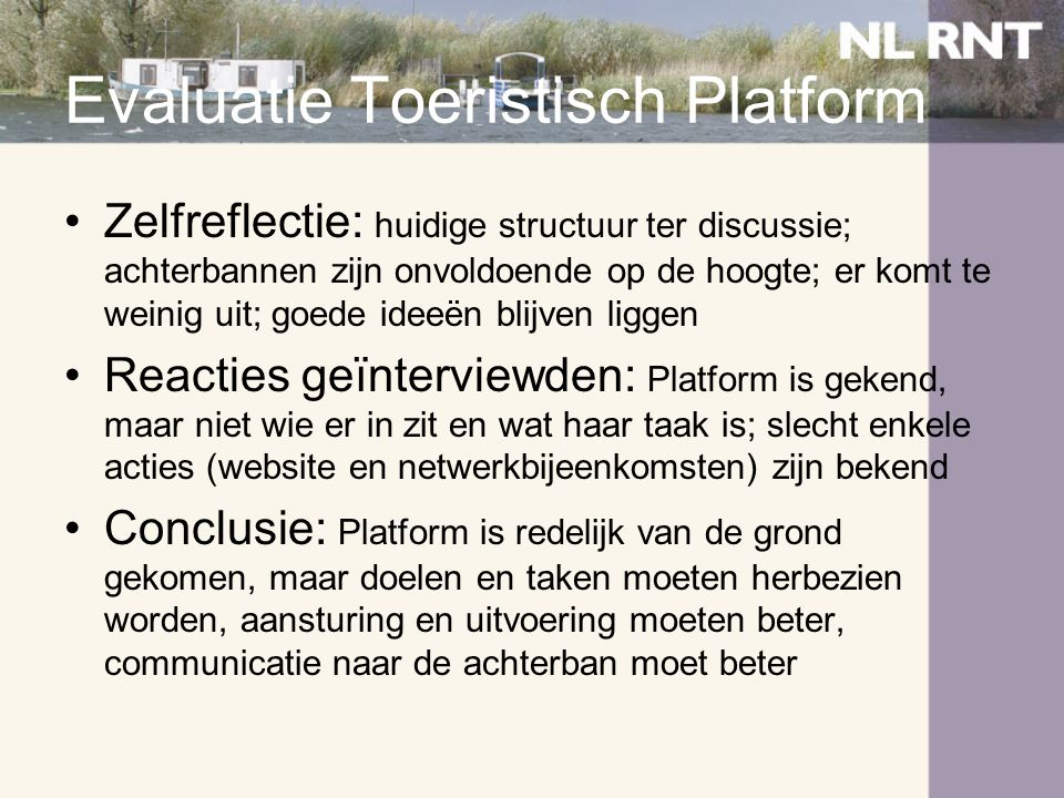 Evaluatie Toeristisch Platform