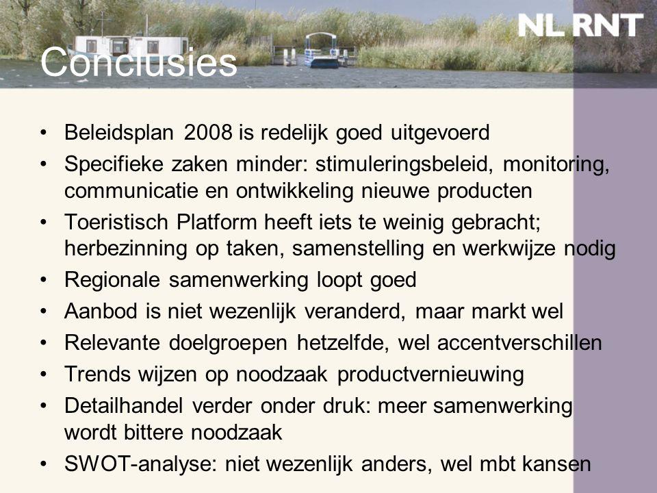 Conclusies Beleidsplan 2008 is redelijk goed uitgevoerd