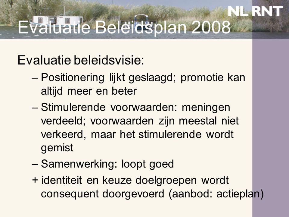 Evaluatie Beleidsplan 2008