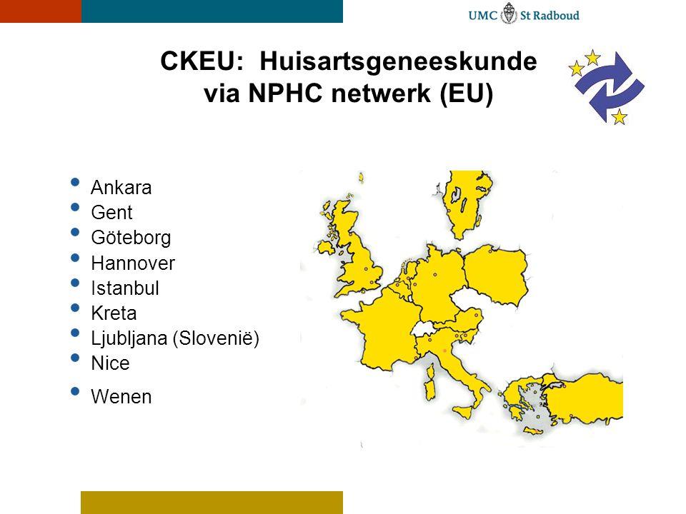 CKEU: Huisartsgeneeskunde via NPHC netwerk (EU)
