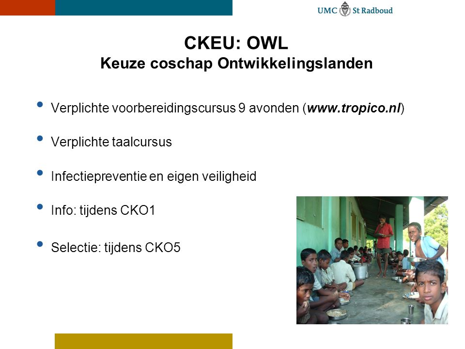 CKEU: OWL Keuze coschap Ontwikkelingslanden