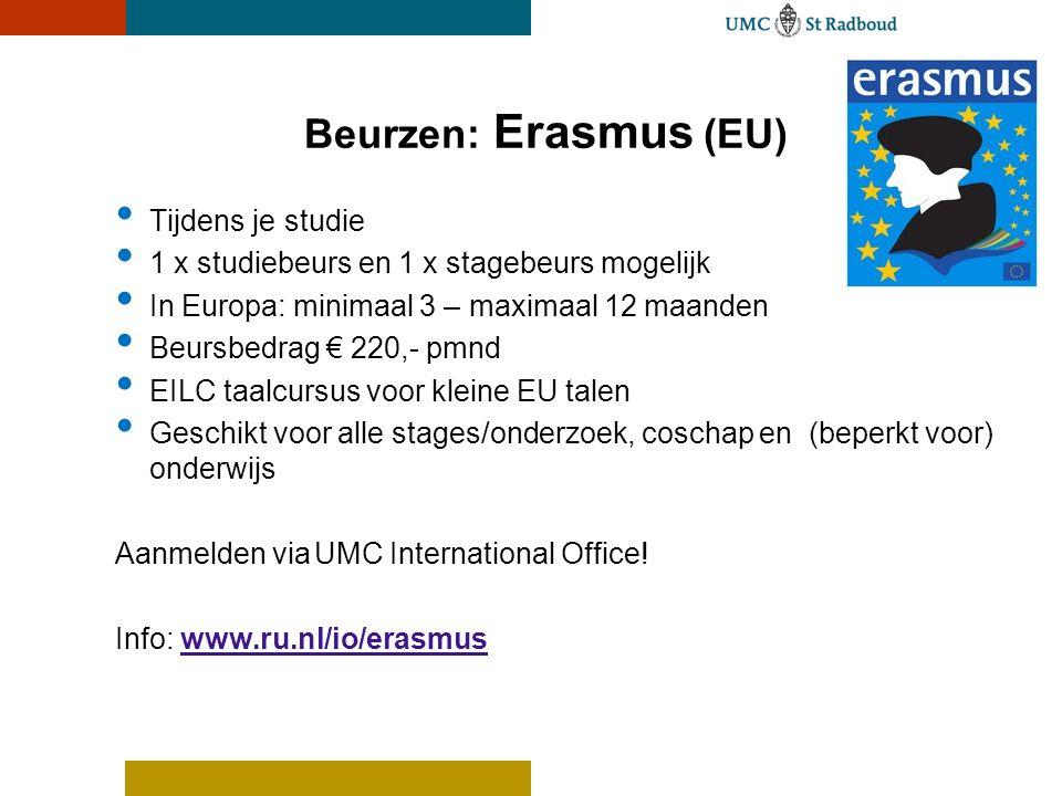 Beurzen: Erasmus (EU) Tijdens je studie
