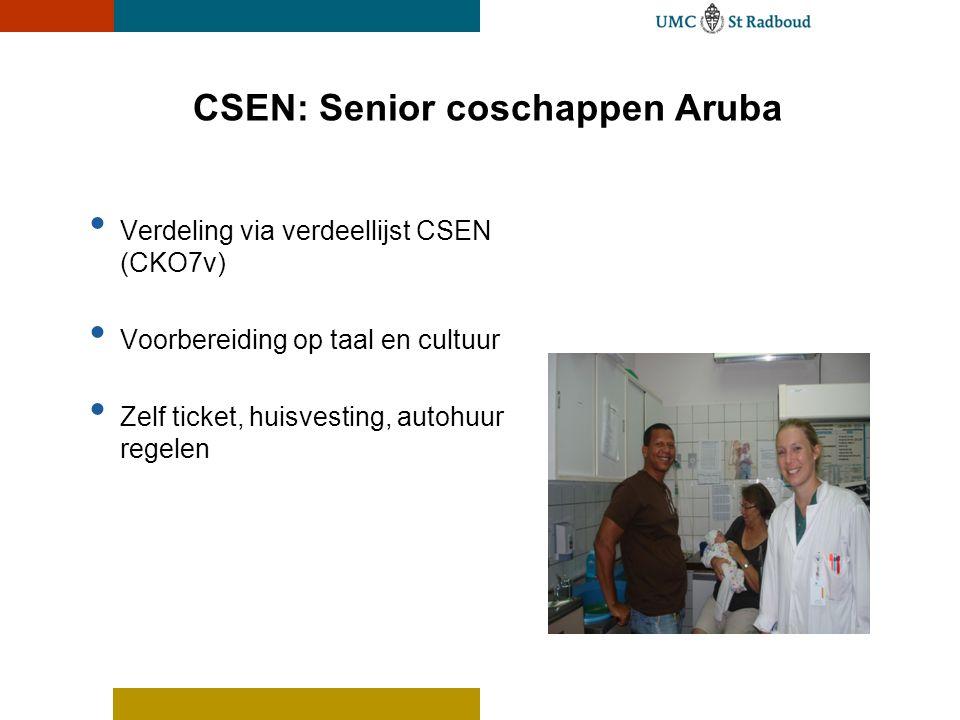 CSEN: Senior coschappen Aruba