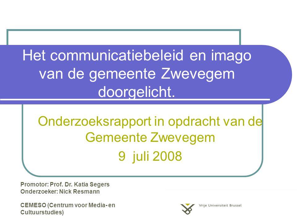 Het communicatiebeleid en imago van de gemeente Zwevegem doorgelicht.