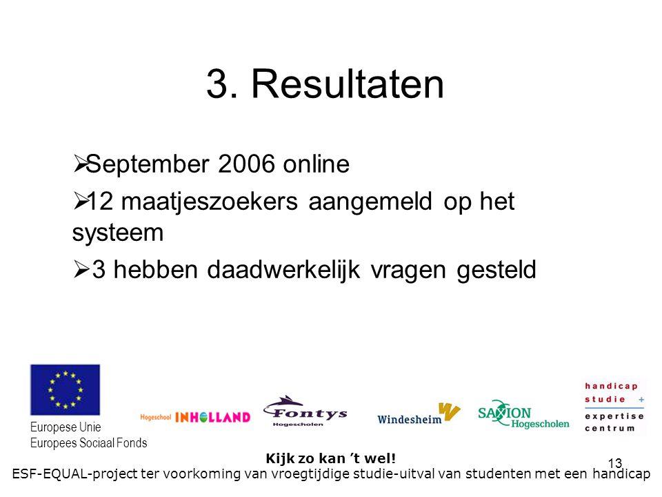 3. Resultaten September 2006 online