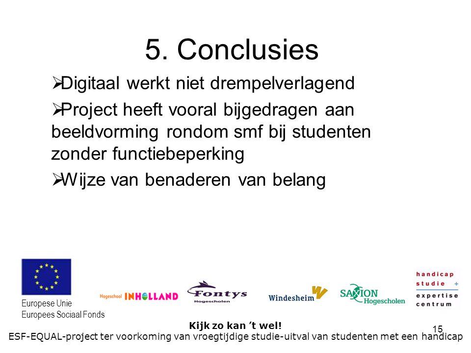 5. Conclusies Digitaal werkt niet drempelverlagend