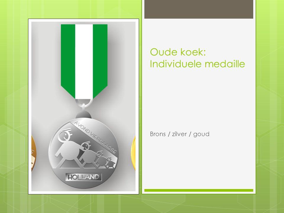 Oude koek: Individuele medaille