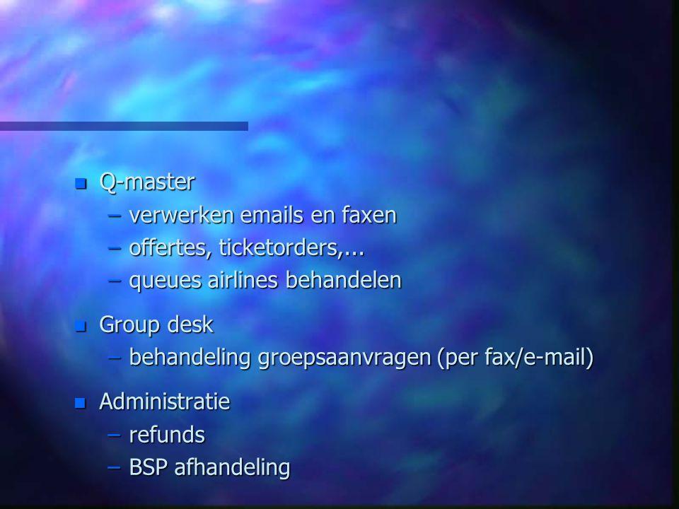 Q-master verwerken emails en faxen offertes, ticketorders,...
