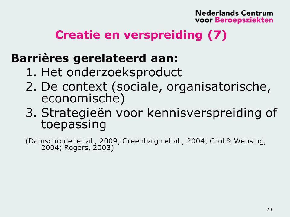 Creatie en verspreiding (7)