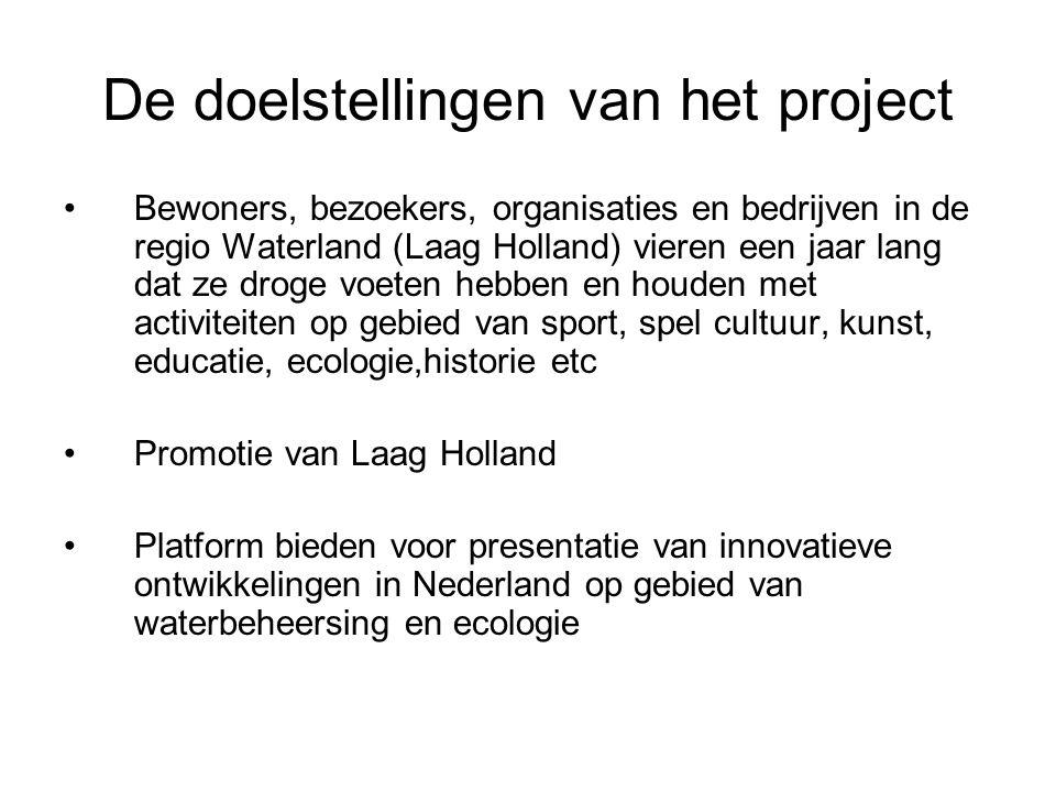 De doelstellingen van het project