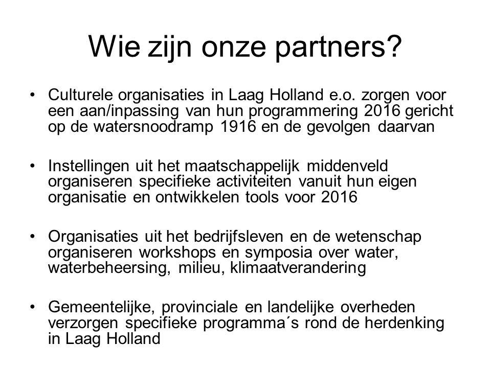 Wie zijn onze partners