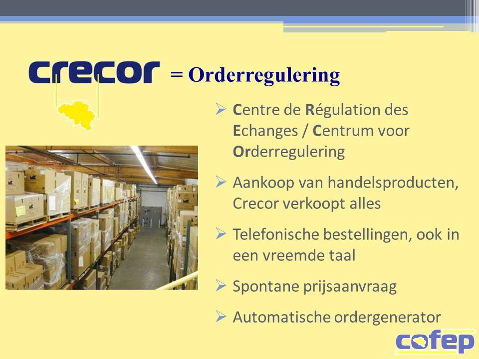 = Orderregulering Centre de Régulation des Echanges / Centrum voor Orderregulering. Aankoop van handelsproducten, Crecor verkoopt alles.