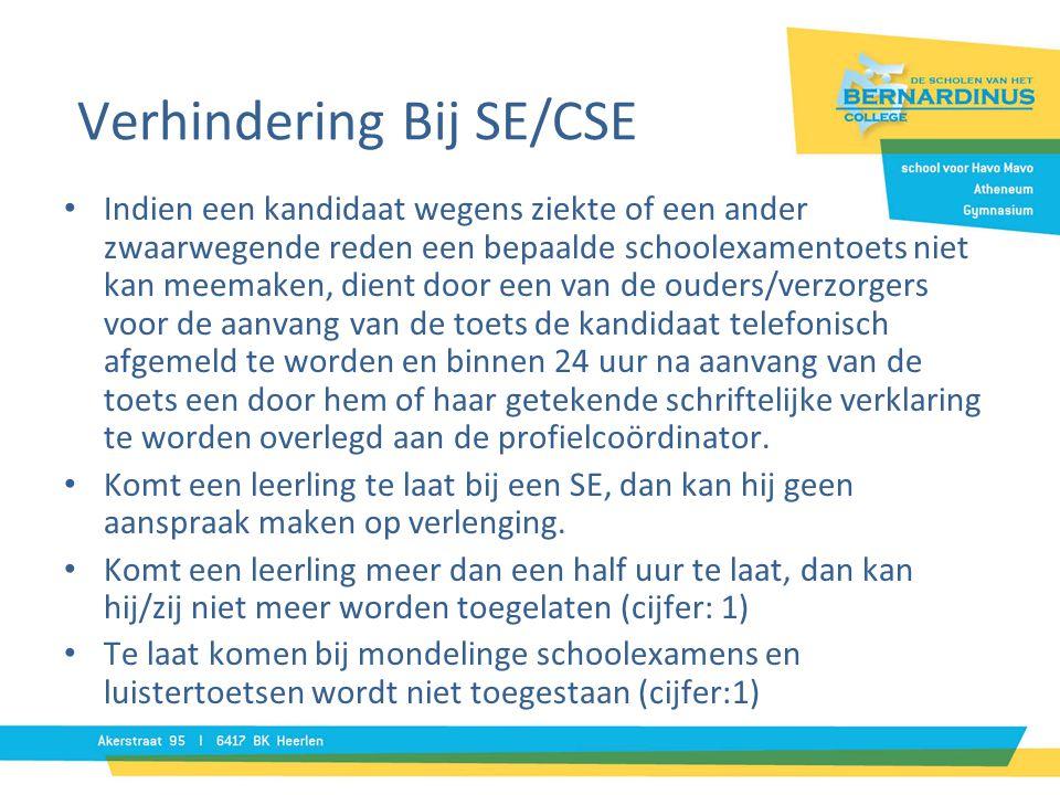 Verhindering Bij SE/CSE