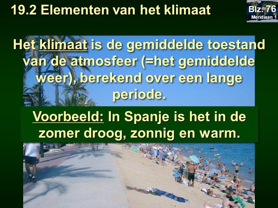 Voorbeeld: In Spanje is het in de zomer droog, zonnig en warm.