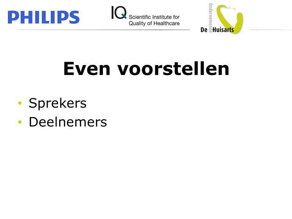 Even voorstellen Sprekers Deelnemers