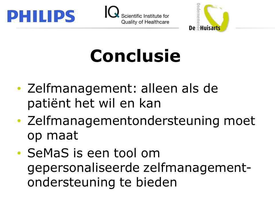 Conclusie Zelfmanagement: alleen als de patiënt het wil en kan