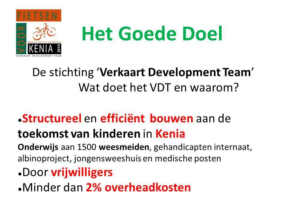 Het Goede Doel De stichting 'Verkaart Development Team'