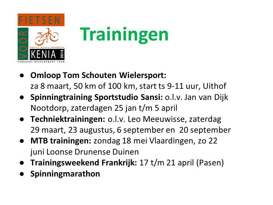 Trainingen Omloop Tom Schouten Wielersport: